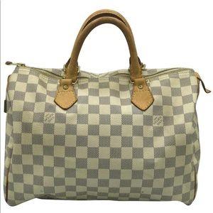 Louis Vuitton Damier Azur Speedy Doctor Boston Bag